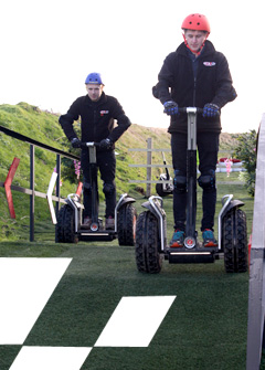 Ace Segway on the obstacle course